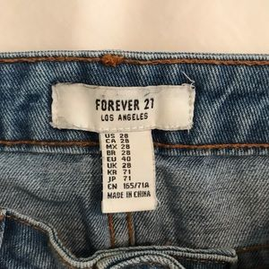 Forever 21 Skirts - Denim skirt with patches